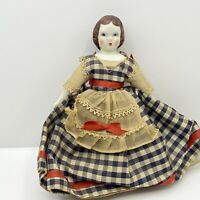 Rare LABELED Jane, RUTH GIBBS doll, china Little Lady series, original stand.