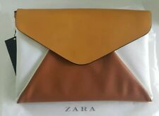 zara woman faux leather clutch purse