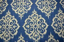 Blue Ikat Damask Print Tangier Seaside Covington Fabric