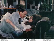 Lady in Cement 11x14 original lobby card Raquel Welch Frank Sinatra embracing