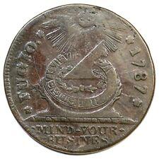 1787 17-S R-3 Fugio Colonial Copper Coin