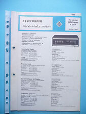 Service Manual-Anleitung für Telefunken V 201 A ,ORIGINAL