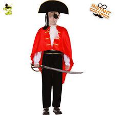 Deluxe Boys buccaneer Pirate Costumes Halloween Kids Carnival Party Fancy Dress