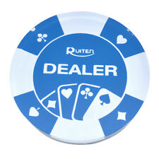 Transparent Blue Acrylic Dealer Button for Poker Card Casino Game Parts