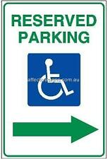 Disabled Reserved Parking Sign Safety Signs Australian Made Quality Printed Sign