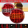 10/30V LED Rear Tail Light Round Hamburger Brake Indicator Car Van Trailer Truck