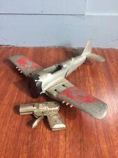 Set of 2 vintage metal toys. Kaba water gun, Hubley plane. Very cool!