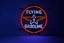 FLYING A GASOLINE Gas Station Real Neon Sign Beer Bar Light Free shipping