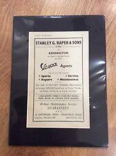 VESPA Vintage Original 1956 GS150 125 Advert PIAGGIO SCOOTER MODS London