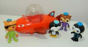 Octonauts Gup-B Orange Shark Submarine W/ Figures Lot Shellington, Peso, Kwazi