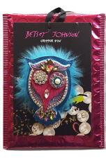 Nwt Betsey Johnson B12782-Po3 Multi Stone Multi Color Owl Pin