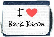 I Love Heart Back Bacon Denim Wallet