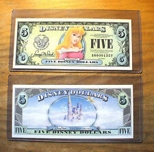 "2007 $5. DISNEY DOLLAR - AURORA - SLEEPING BEAUTY - ""A"" Series - Mint Condition"