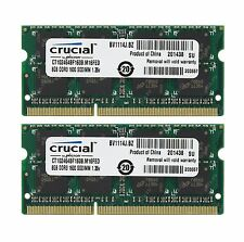 Crucial 16GB (2 x 8GB) 204-pin SODIMM DDR3 PC3L-12800S Memory Module