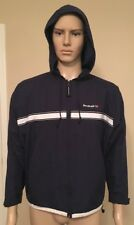 Vintage Reebok Hoodie Jacket Union Jack Logo Mesh Lined Zip Up Men's Size Large