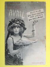 cpa Phot. BERGERET & Cie NANCY Devinez qui vous l'envoi... POISSON d'AVRIL 1904
