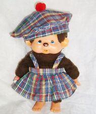 Vintage Kiki vêtement tenue jupe bretelle + béret écossais