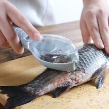 Fish Scale Remover Scaler Scraper Cleaner Kitchen Tool Peeler Gadgets with Cover