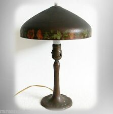 Handel vintage art deco lamp with hand painted metal shade - FREE SHIPPING