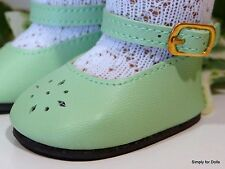 """**SALE** GREEN Diamond Cut ANKLE STRAP DOLL SHOES fits 18"""" AMERICAN GIRL DOLL"""