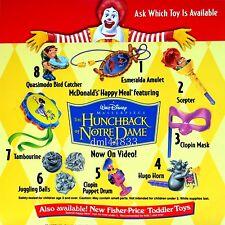 1997 McDonalds Hunchback of Notre Dame MIP Complete Set of 8, Boys & Girls, 3+