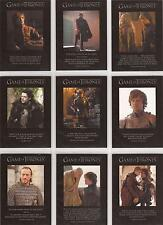 """Game of Thrones Season 2 - Q11-19 """"Quotable"""" Set of 9 Chase Cards"""