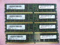 8GB Lot, QTY 4x 2GB DDR2 PC2-4200R ECC Registered Memory for IBM P5 FRU 12R6446