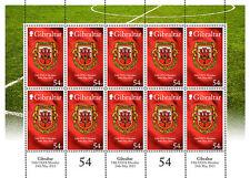 Gibraltar 2013  54e lid UEFA voetbal-soccer -- S H E E T L E T  -   postfris/MNH