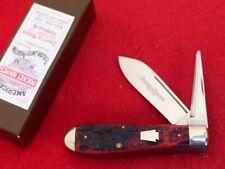 """Schatt & Morgan USA Bone 3-5/8"""" 2 Blade Punch 042206 Harness Jack Knife MINT ld"""