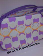 AVON Purple White and Orange Circle Cosmetics Bag Toiletries/Make-Up/Purse/Case