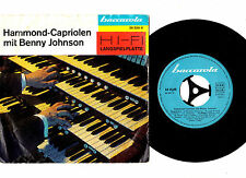 """DANCE"".BENNY JOHNSON.HAMMOND-CAPRIOLEN MIT.GERMAN ORIG 7"" EP & PIC/SL.EX-"