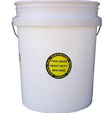 Encore Plastics 5-GALLON ALL PURPOSE Bucket Commercial Food Grade Durable USA