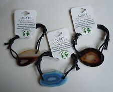 Brazilian AGATE BRACELETS 3 PACK - US Seller - Natural Stone Jewelry - NEW R34