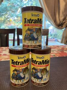 Lot of 3 Tetra 2.2 Oz TetraMin® Tropical Flakes Clean & Clear Water Exp 1/23