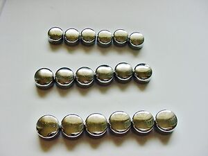 Buick Opel Chrome Motor Engine Bolts Caps Covers Dress-up Kit set 18 3 sizes NOS