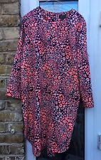 Topshop Orange leuchtendes Kleid UK 14