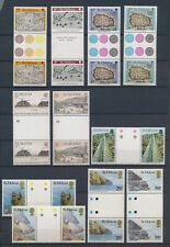 XC77436 St Helena landscapes maps cartography gutter pairs MNH