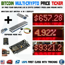 DIY Arduino Multi Crypto Bitcoin Price Ticker RED LED Dot Matrix Display WiFi