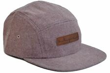 Skyed Apparel Premium 5 Panel Brush Cotton Hat with Genuine Leather Strap