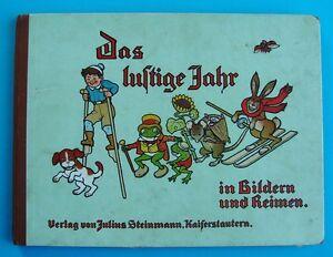 """Bilderbuch """"Das lustige Jahr """" R.E. Kepler ca.1914  J. Steinmann  Kaiserslautern"""