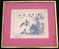 "PICASSO 1961 ORIGINAL LITHOGRAPH ""JEU DE LA CAPE"" FRAMED (BLOCH 1015) BEST OFFER"