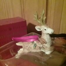 Fitz And Floyd Forest Frost Deer Dated Ornament Collectible 2019 New