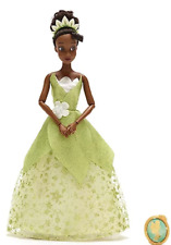 DISNEY Princess And The Frog 32cm Tiana  Doll Figure With Pendant **NEW**