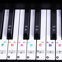 88 Keys Piano Transparent Stickers Keyboard Music Note Chart  Removable Decal M
