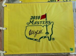 Phil Mickelson Signed 2010 Masters Pin Flag