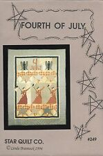 "Quilt Pattern by Star Quilt Company  ""Fourth of July"" #249 - (47"" x 62"")"
