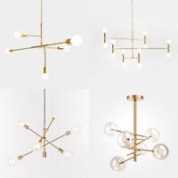 Modern Chandeliers Light Pendant Lighting Industrial Gold Metal Ceiling Fixtures