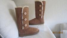 UGG Australia Women's Bailey Button Triplet Boots 1873  Chestnut size 11