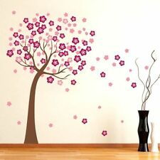 LARGE Pink Cherry Blossom Flower Tree Wall Art Decal Stickers Vinyl Wallpaper