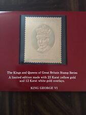 Vintage 1977 23K over 12K Stamp Kings Queens Great Britain King George VI